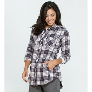 Toad & Co. Purple Plaid Cairn Long Sleeve Top